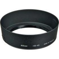 Parasol Original Nikon Hb-45 Snap-on Para Lente18-55mm Hm4