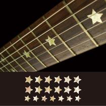 18 Stars (estrellas) Inlays Decals Vinil Guitarra Acustica