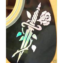 Stickers Decorativo Para Mica Protectora, Guitara Acustica