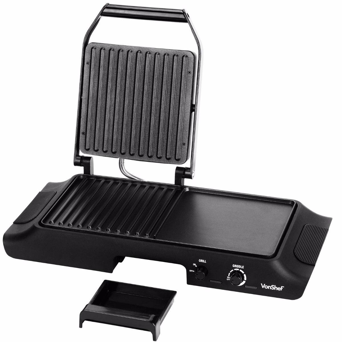 Parrilla electrica grill acero inoxidable plancha asador - Plancha de acero inoxidable precio ...