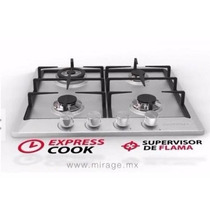Parrilla Empotrable Mirage 4 Quemadores Acero Inoxidable