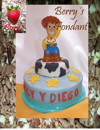 Pastel Delicioso Fondant Woody Decorado Toy Story Cumpleaños