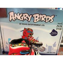 Patines En Línea Angry Birds Nuevo Y Con Caja