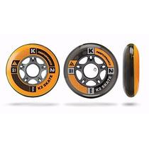 Tb Ruedas K2 72mm W/ilq5 Alum Spacer Inline Skate Wheels