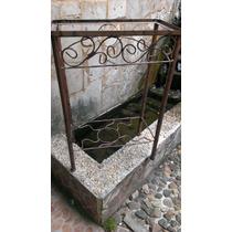 Base Para Pecera Rectangular De Herreria. 50 Cm Largo.maciza