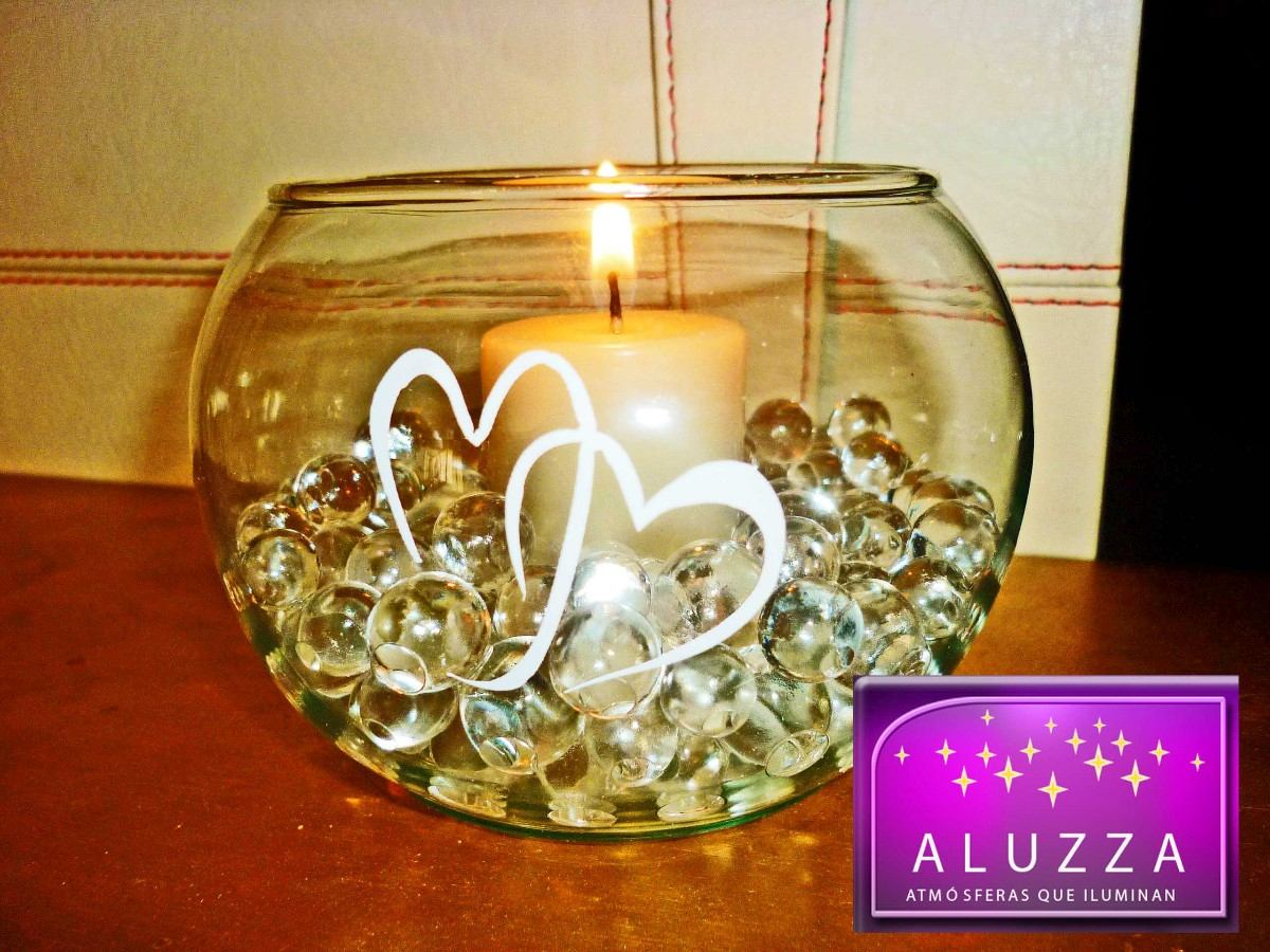 Centros de mesa para boda con velas flotantes aluzza for Mesa centro