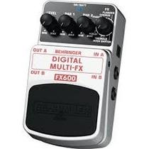 Pedal De Multiefectos Digitales Estereo Behringer Fx-600