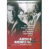 Arma Mortal 4. Mel Gibson Y Danny Glover. Formato Dvd