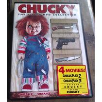 Chucky Dvd Collection Muñeco Diabolico Boxset De 4 Peliculas