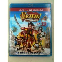 Piratas: Una Loca Aventura ( Bluray 3d Y 2d + Dvd )