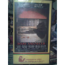 Vhs Rojo Amanecer 1a. Edición Mexinema Video Mexicana Drama