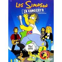 Los Simpson En Concierto Backstage Pass Pelicula Seminueva