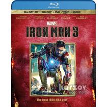 Iron Man 3 Blu-ray 3d + Blu-ray + Dvd + Digital Copy + Music