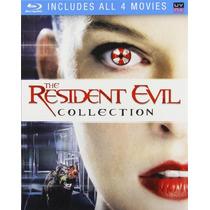 The Resident Evil Coleccion , Boxset 4 Peliculas En Blu-ray