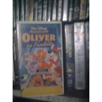 Vhs Película Oliver Y Su Pandilla Caricatura Walt Disney