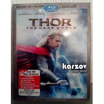 Thor , The Dark World Pelicula Blu-ray 3d + Br + Digital Hd