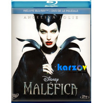 Malefica , Maleficient . Pelicula Disney Disco Blu-ray + Dvd