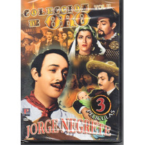 Coleccion De Oro, Jorge Negrete. 3 Peliculas En Formato Dvd