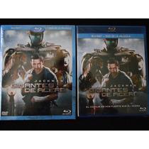 Gigantes De Acero Bluray + Dvd Con Slipcover Nuevo Y Sellado