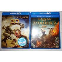 Furia De Titanes Peliculas 1 Y 2 En Blu-ray 3d + Combo