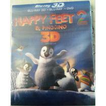 Happy Feet El Pinguino 2 ( Bluray 3d + Bluray + Dvd )
