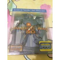 Titanes Del Pacifico Jaeger Case Bluray 3d+bluray+dvd Figura