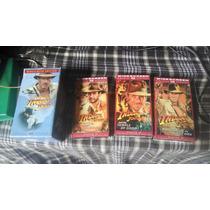 Vhs Original Pelicula Trilogia Indiana Jones De Coleccion