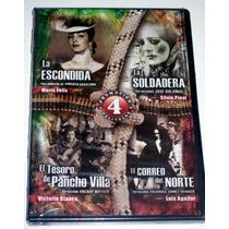 Paq 4 Peliculas Revolucionarias En Dvd: La Escondida, Dmm