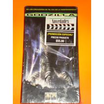 Vhs Sellado Godzilla Movie Accion Monster Pelicula Nuevo