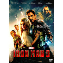 Iron Man 3, Marvel Comics Cine Accion Aventuras Pelicula Dvd
