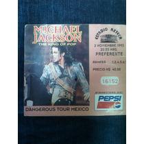 Boleto Michael Jackson Dangerous Tour México