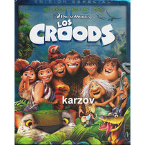 Los Croods, Pelicula Combo: 3d + Blu-ray + Dvd