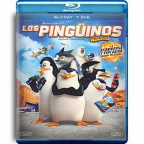 Los Pinguinos De Madagascar , Pelicula Blu-ray + Dvd