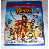 Piratas Una Loca Aventura , Blu-ray 3d + Dvd