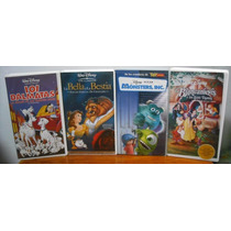 Paquete Disney En Vhs.. Blancanieves, Monsters, Bella-bestia