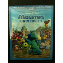 Monster University De Disney Pixar ( Bluray + Dvd ) Lbf