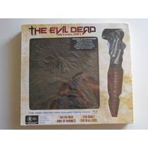 The Evil Dead 1 2 3 4 Anthology Bluray + Dvd + Libro + Daga