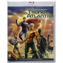 Liga De La Justicia El Trono De Atlantis Pelicula Blu-ray