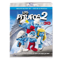 Los Pitufos 2 En 3d ( Bluray 3d + Dvd ) Nuevo Fn4