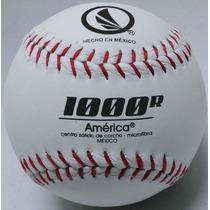 Pelota América 1000r De Softbol Microfibra Blanca Roja Doce