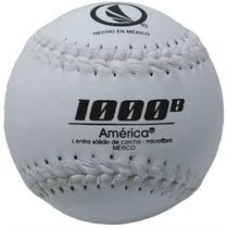 Pelota América 1000b De Softbol Microfibra Blanca Docena