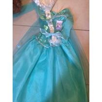 Elsa Frozen Disfraz Original Incluye Peluca, Capa Y Corona