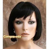 Peluca Super Natural Corta Color Negro, Dpa