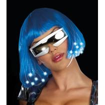 Peluca Disfraz Cosplay Bob Azul Sintetica Lacia Corta