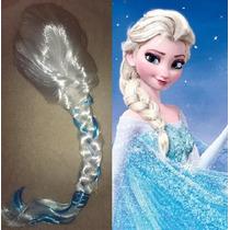 Peluca Disfraz Cosplay Frozen Disney Con Brillos Y Trenza