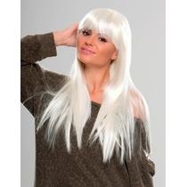 Peluca Disfraz Cosplay Lacia Blanca Frozen Lady Gaga 70