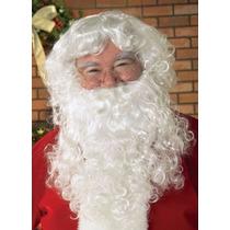 Peluca Barba Y Bigote Santa Claus Clos Disfraz Navidad E