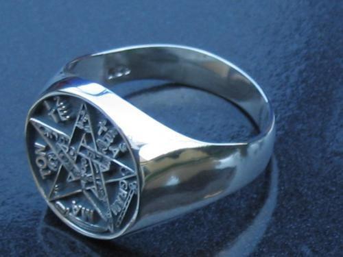 Esoterismo:  El Pentagrammaton o Tetragrammaton Pentagrama-en-anillo-de-plata-el-mejor-terminado-del-mercado-2601-MLM30035238_2298-O