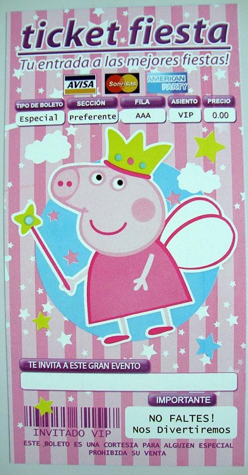 Peppa Pig Invitaciones Todo Para Tu Fiesta - $ 35.00 en MercadoLibre