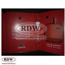 Perfume Eau De Lacoste L.12.12 Rouge Caballero Muestra Rdw